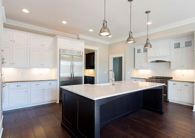 R.E. Collier INC, Builder custom home kitchen with big island