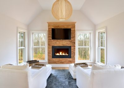 R.E. Collier INC, Builder custom living room with fireplace