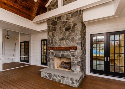 R.E. Collier INC, Builder custom home interior fireplace